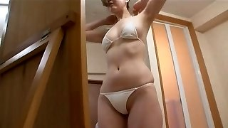 softcore asian swimsuit ass massage