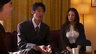 Amazing Japanese model Mako Oda in Incredible Handjobs, Wife JAV sequence