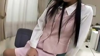 Japanese Office Lady Tease Victim an Hj