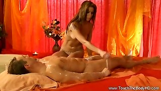 Golden Massage From Erotic Blonde