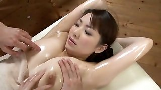 Luxurious Japanese model Yuna Aino in Kinky Threesome, Massage JAV scene