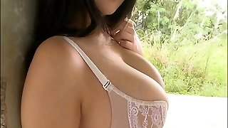 Large titted asian in lingerie posing
