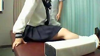 Perfect Jap bitch enjoys a kinky massage in hidden cam video