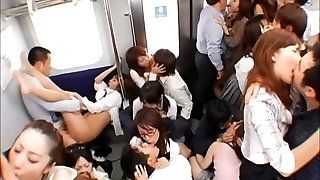 Train Commuter Tongue Kissing Hook-up!