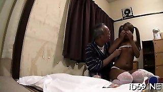 Enthralling hottie gets ball pleasure gel on tits