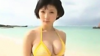 Asian Teen At The Beach