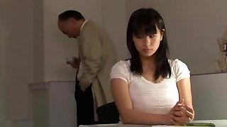 Crazy Japanese female Hana Haruna in Best Stockings, Three-way JAV movie