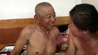 muted Chinese old man ravaging grandma