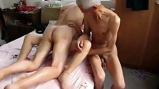 Asian girl does hubby and his dad