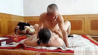 Handsome Chinese grandpa providing fucking