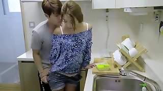 korean erotic collection hot romantic kitchen fuck with romp toy