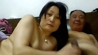 Daddy Chinese Fuckfest with his Wife1