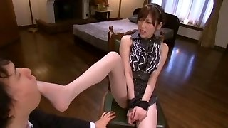 Best Japanese girl Rico Yamaguchi in Exotic Foot Fetish, Stockings/Pansuto JAV video