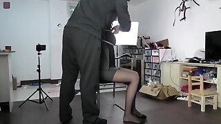 Asian girl bondage game