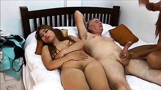 Thai girlfriend brings her pal along for a 3 way
