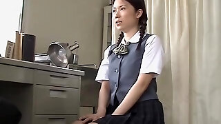 Asian whore fucked hard by her therapist in medical sex video