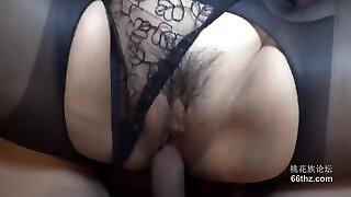 Dark-hued Pantyhose Ultra-small Panty Stile