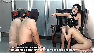 Japanese BDSM Strapon and Spanking Flagellating