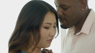 BLACKED Tight Asian Babe Jade Luv Screams on Ample Black Cock