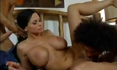 Harley Rain - Mommy fucked by 2 young studs