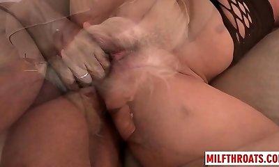 Hot cougar assfuck sex and cum swallow