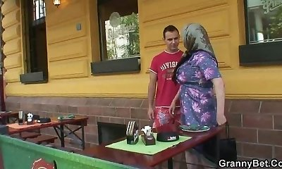 Big bra-stuffers granny fucked hard
