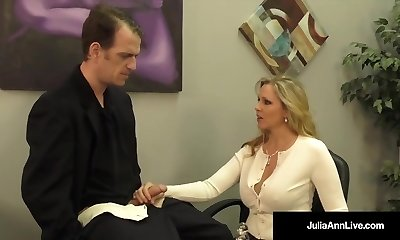 Huge-chested Blonde Milf Julia Ann Milks Cum From Rock Hard Pipe!