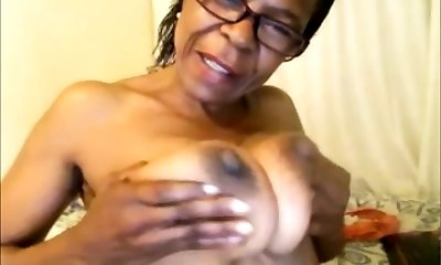 black mature with big mounds
