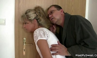 Parents tricks their sonny's GF into lovemaking