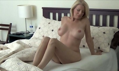 Blonde Cougar Morning Stretch
