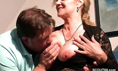 Monster Cock Step-Son Seduce Sizzling German Mommy to Fuck