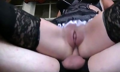 Mature Maid anally boned