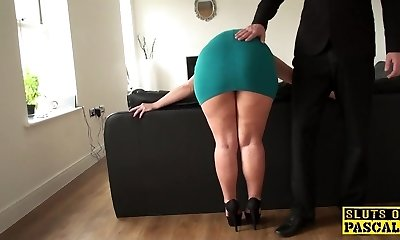 Mature sub booty-fucked until red moist and ruined