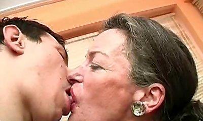 Kissing Granny