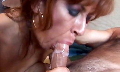 Saucy elder spunker loves to boink and swallow cum