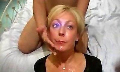 Cougar Jade Swallows in Deep Throat and Bukkake Video