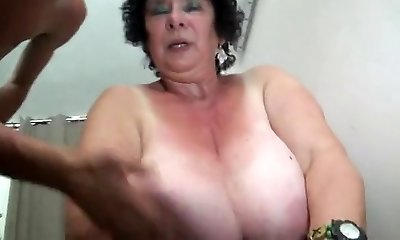 FRENCH BBW 65YO GRANNY OLGA FUCKED BY 2 Folks - Double Penetration