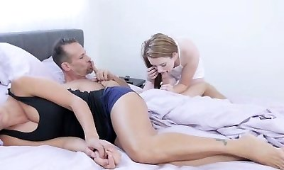 FamilyStrokes - Step-Daughter Seduces Dad Infront Of Mommy