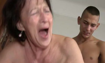 Granny Loves Young Boy's Balls and Butt