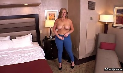 Ginger gets large ass fucked POV
