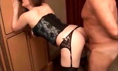 Girl Inhales Phat Mature Senior Grandpa Cock