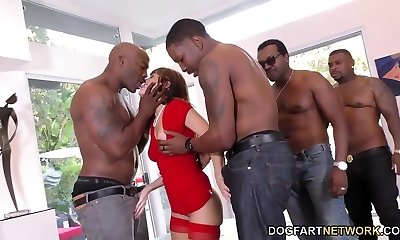 B-day Gangbang with Sexy Mummy Alana Cruise