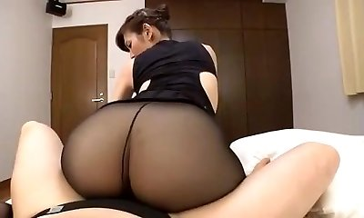 Japanese mature black tights sex