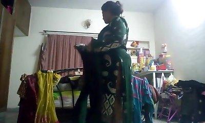 Torrid aunty caught on hidden cam