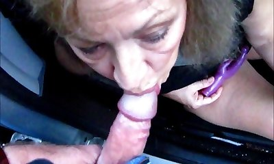 Pretty Mature Wife Sucks Lollipop Through Camper Window
