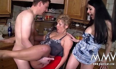 MMV FILMS Busty Mature Amateur Threeway