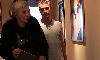 Young Boy Seduce German Milf Friend of Mother to Bang