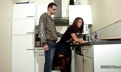 Step-Son-in-law Seduce MILF Mother to Fuck and Cum on Stockings