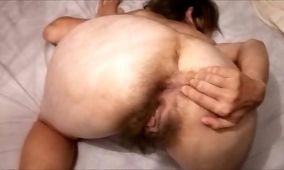Hairy Mature Mummy posing on cam! Amateur!