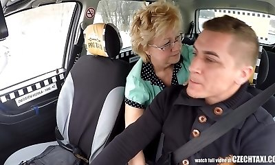 Czech Mature Blonde Hungry for Taxi Drivers Spunk-pump